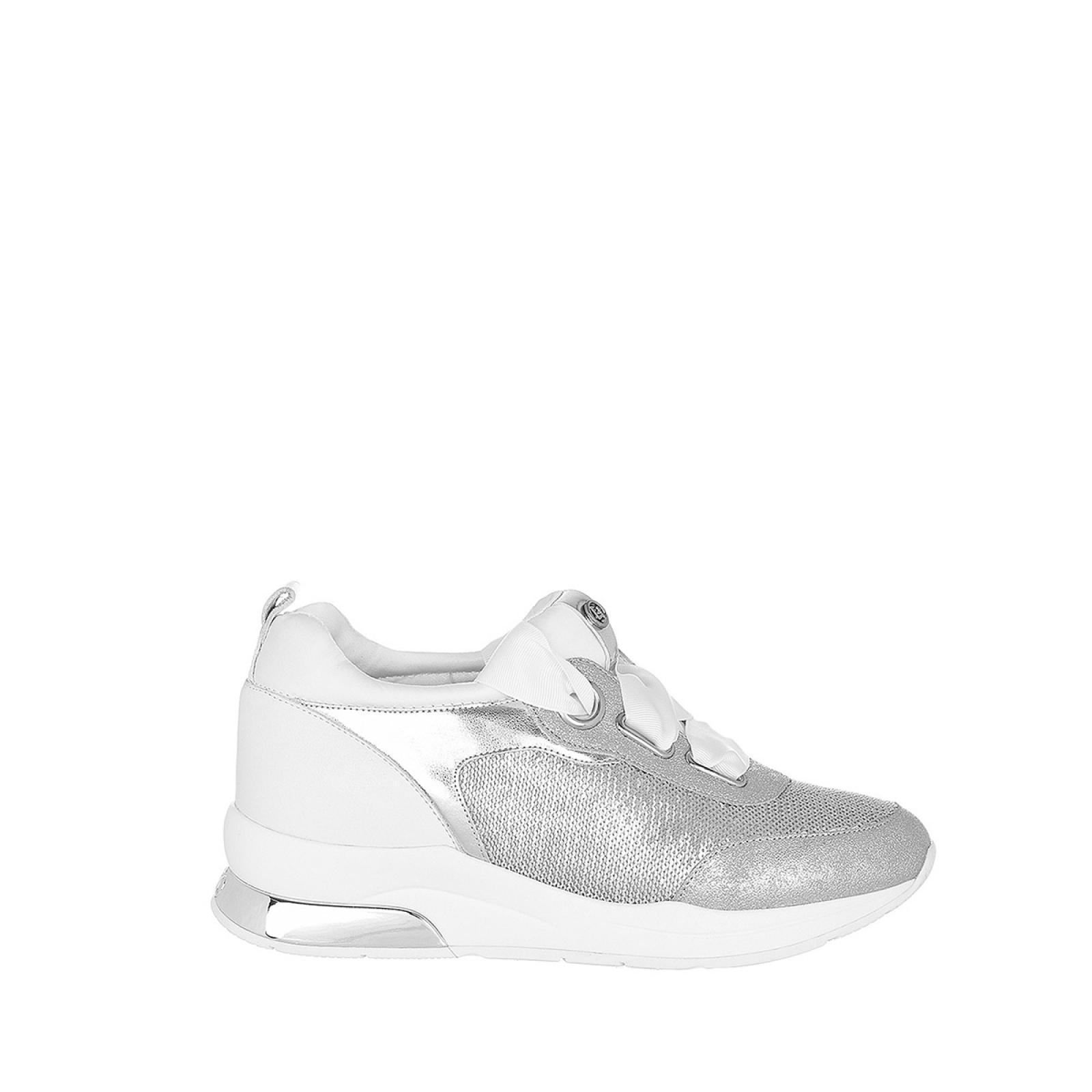 Sneakers Karlie in pelle - SILVER