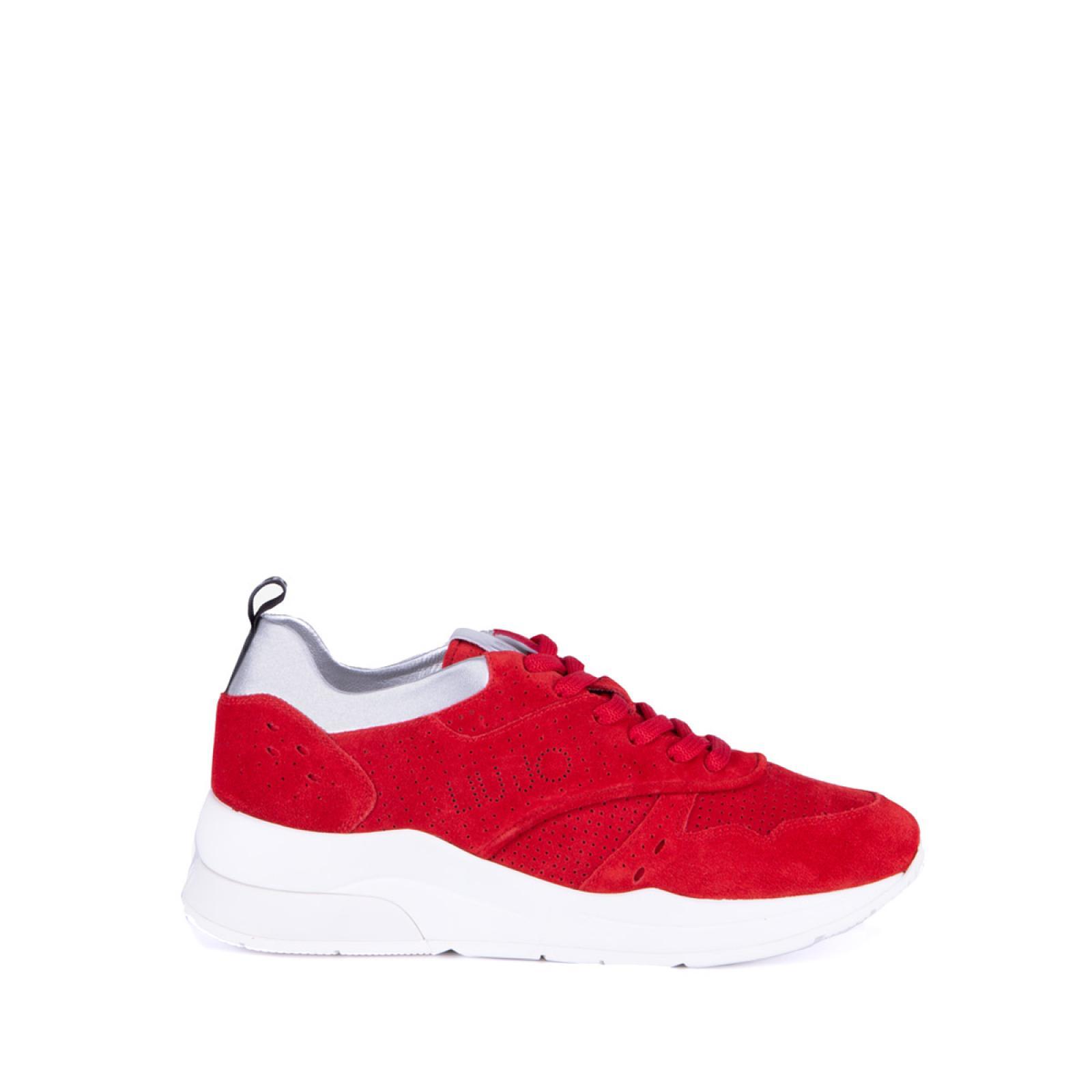 Sneakers Karlie in suede - ROUGE