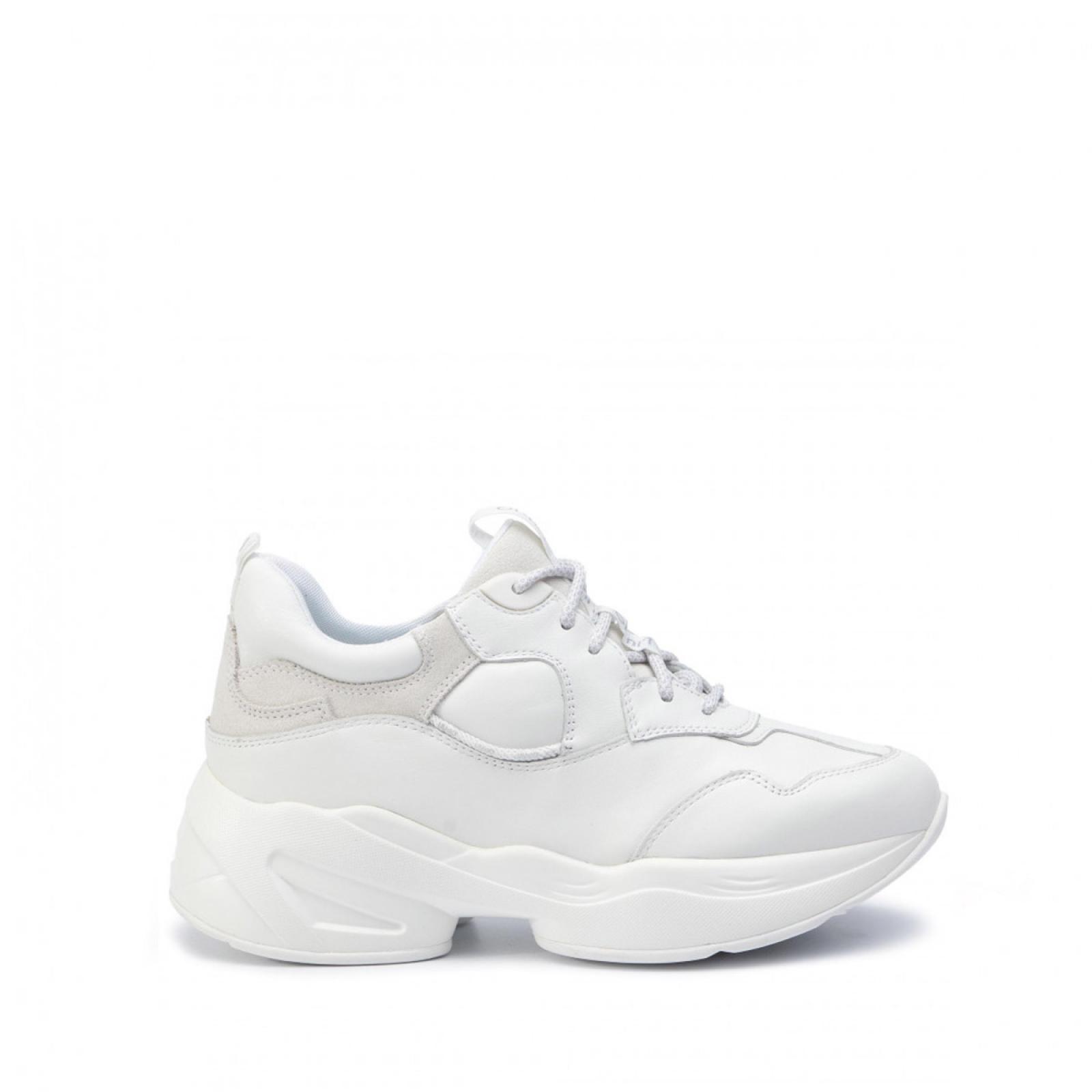 Sneakers Jog in pelle - WHITE