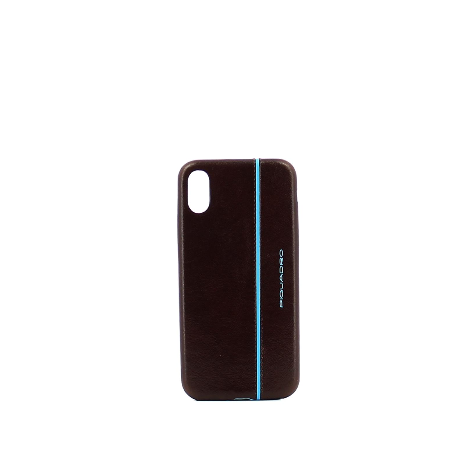 iPhone®X leather case Blue Square
