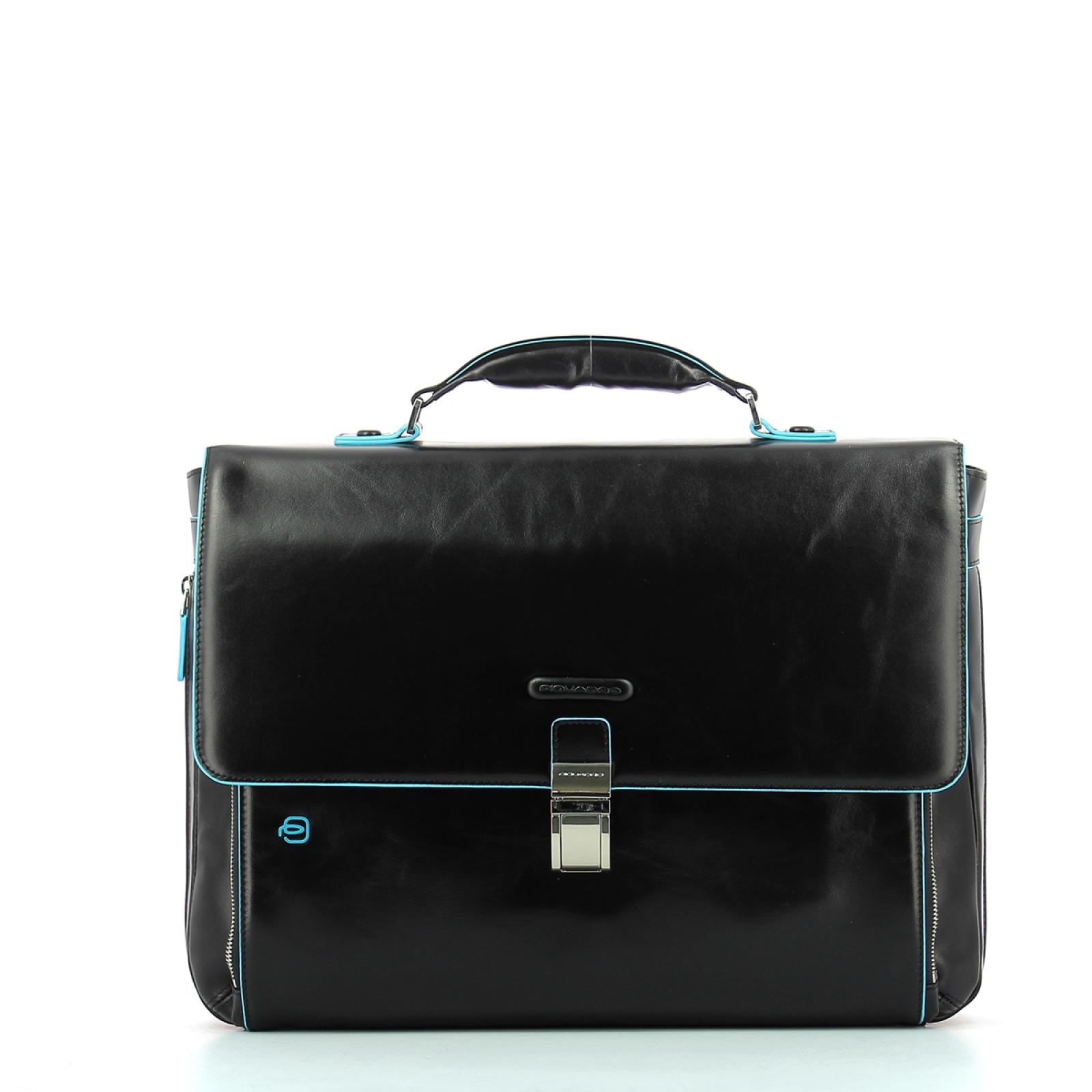 Expandable Computer Bag Blue Square 15.0-NERO-UN