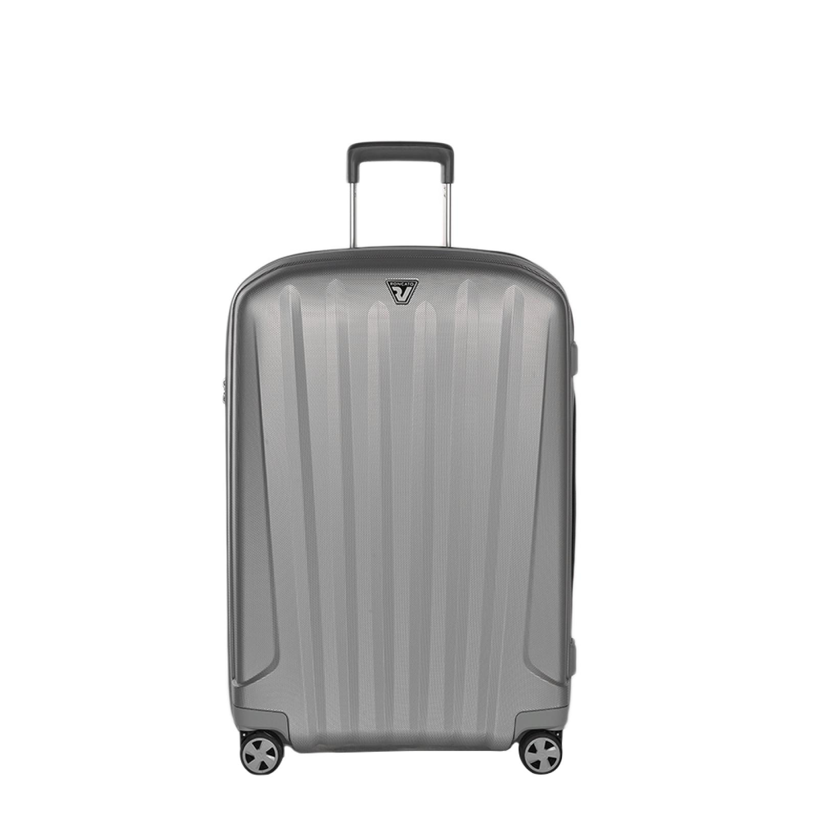 Trolley Medium Unica Spinner 72 cm-SILVER-UN