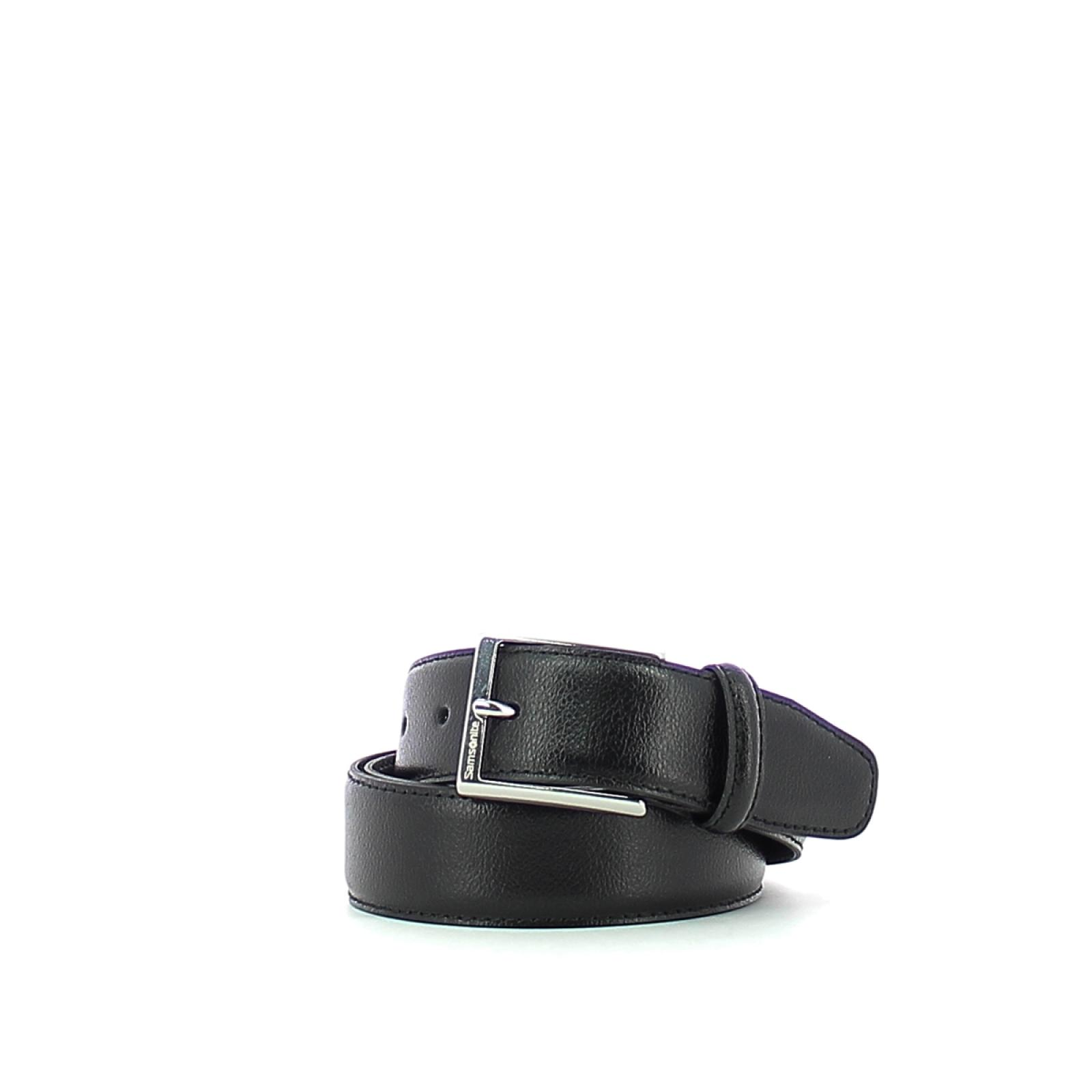 Men Belt in Leather-BLACK-S