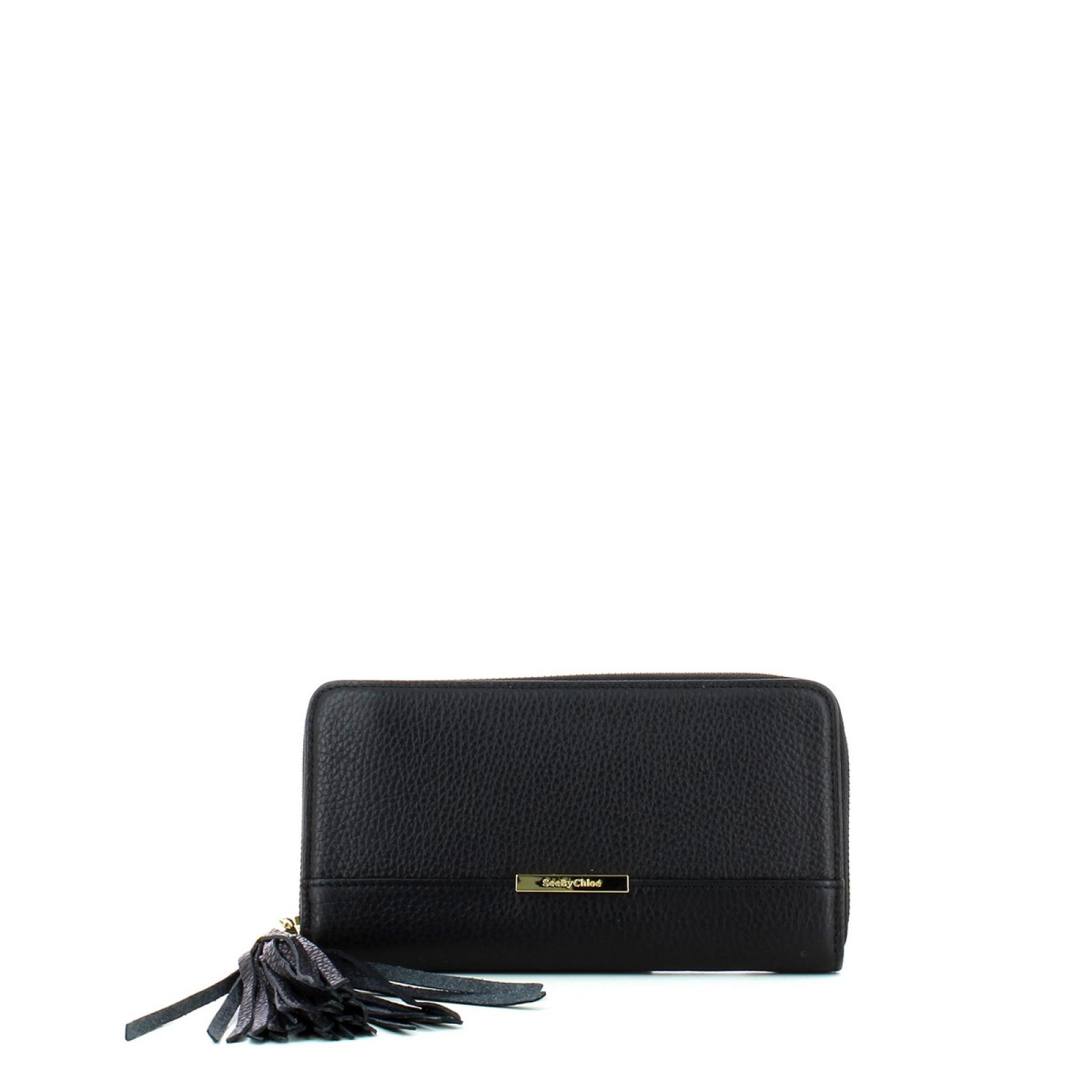 Smart Zipped Wallet Vicki-BLACK-UN