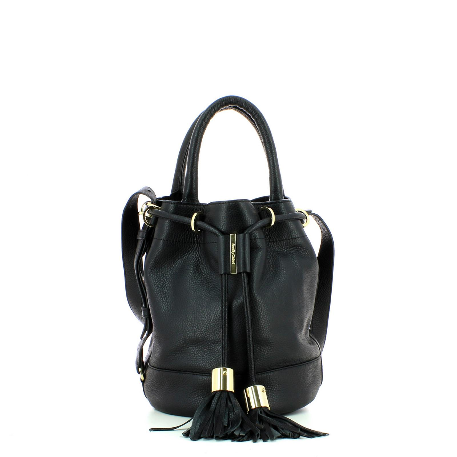 Bucket With Handcarry & Crossbody Strap Vicki-BLACK-UN