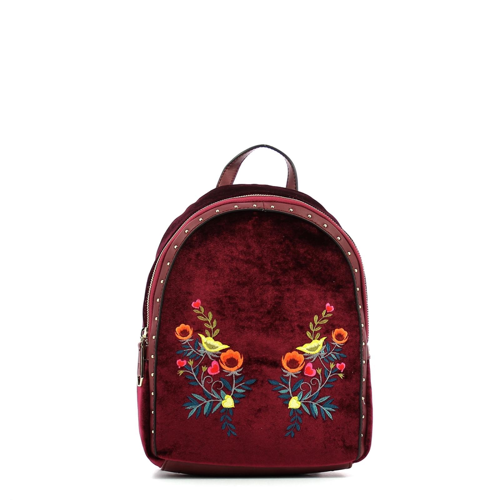 Backpack Portulaca velvet-BORDEAUX-UN