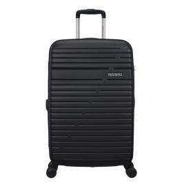 American Tourister Trolley Medio Aero Racer Spinner 68/25 - JET/BLACK