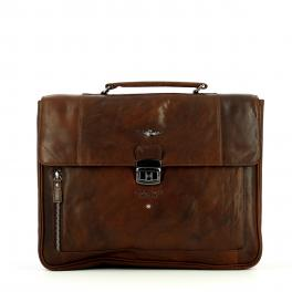 AEMI Leather briefcase with laptop sleeve - 1