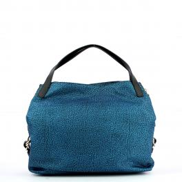 Borbonese Hobo Bag Medium Jet - 1