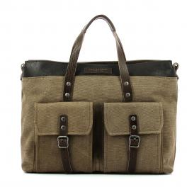 Briefcase Canvas Carver-MILITARE-UN