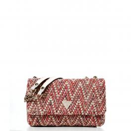 Guess Borsa a spalla convertibile Cessily Tweed Pink Multi - 1