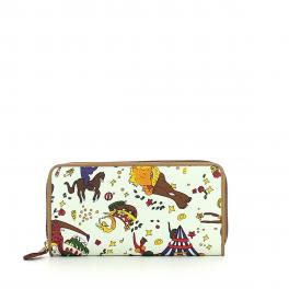 Wallet Zip Magic Circus-BIANCO-UN