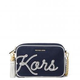 Michael Kors Borsa a tracolla Jet Set Medium in Canvas - 1