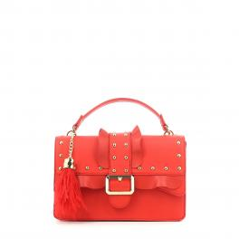 Handbag Melrose Rouches-FLAME/RED-UN
