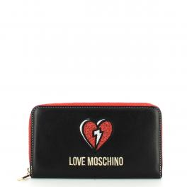 Love Moschino Portafoglio Patch Zip Around - 1