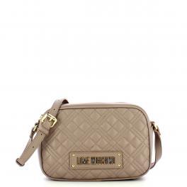 Love Moschino Camera Bag Shiny Quilted Grigio - 1