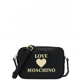 Love Moschino Camera Bag Padded Heart Nero - 1