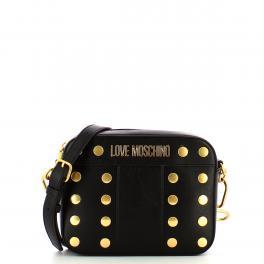 Love Moschino Camera Bag Gold Studs Nero - 1