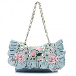 Shoulderbag Rouches-AZZURRO-UN