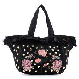 Shopper Rouches-NERO-UN