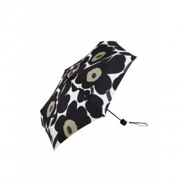 Pieni Unikko Mini Manual Umbrella-WHITE/BLACK-UN