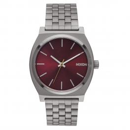 NIXO Orologio Time Teller 37 mm Gunmetal and Deep Burgundy - 1
