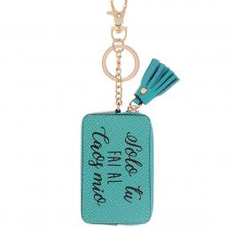 Woman Tag Keyholder Caos-TURQUOISE-UN