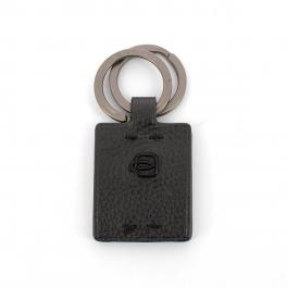 Double ring keyholder P15 Plus-NERO-UN