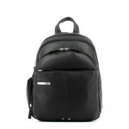 Small iPad® Backpack Piquadro 10.0-NERO-UN