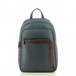 Laptop Backpack in Leather-BLUM-UN