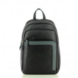 Laptop Backpack in Leather-NG-UN