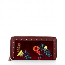Wallet Portulaca in velvet Zip Around - 1