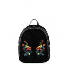 Backpack Portulaca velvet-BLACK-UN