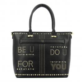 Shopping Bag Paprica studded-BLACK-UN